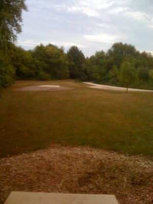 Lower Cato Falls County Park, Main course, Hole 11 Long tee pad