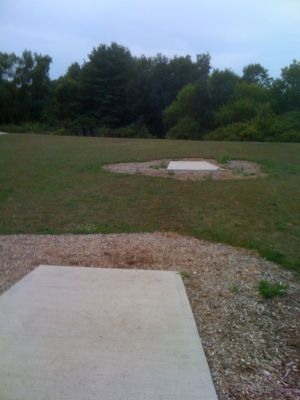 Lower Cato Falls County Park, Main course, Hole 8 Long tee pad