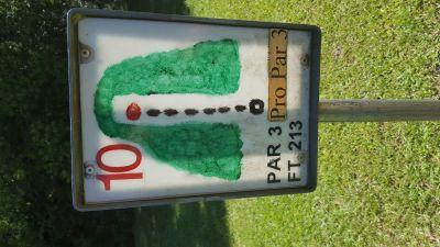 Flanacher Park, Main course, Hole 10 Hole sign