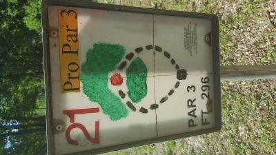 Flanacher Park, Main course, Hole 21 Hole sign