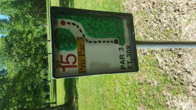Flanacher Park, Main course, Hole 15 Hole sign