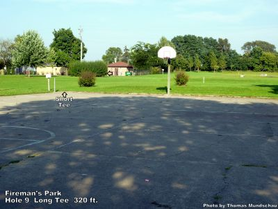 Fireman's Park, Main course, Hole 9 Long tee pad