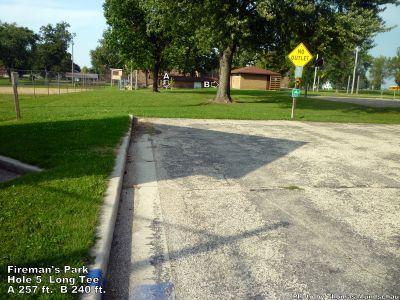 Fireman's Park, Main course, Hole 5 Long tee pad