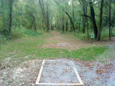 Two Mile Run Park, Main course, Hole 5 Long tee pad