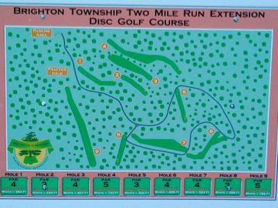 Two Mile Run Park, Main course, Hole 1 Hole sign