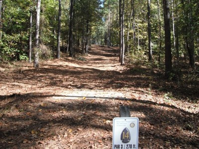 Indian Creek, Main course, Hole 14 Tee pad