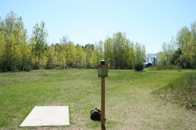 Cadyville Recreation Park, Cadyville DGC, Hole 2 Tee pad