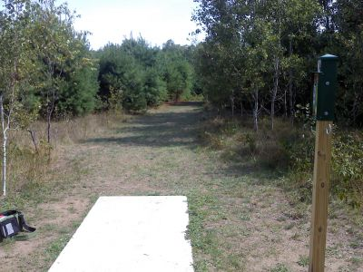 Cadyville Recreation Park, Cadyville DGC, Hole 14 Tee pad