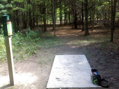 Cadyville Recreation Park, Cadyville DGC, Hole 4 Tee pad
