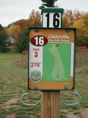 Cadyville Recreation Park, Cadyville DGC, Hole 16 Hole sign