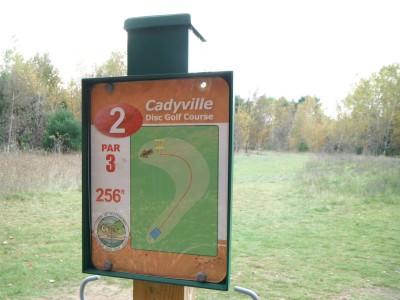 Cadyville Recreation Park, Cadyville DGC, Hole 2 Hole sign