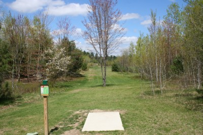 Cadyville Recreation Park, Cadyville DGC, Hole 7 Tee pad