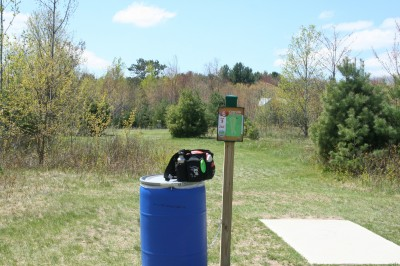 Cadyville Recreation Park, Cadyville DGC, Hole 15 Tee pad