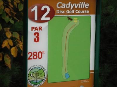 Cadyville Recreation Park, Cadyville DGC, Hole 12 Hole sign
