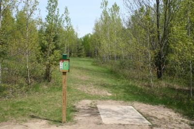 Cadyville Recreation Park, Cadyville DGC, Hole 6 Tee pad