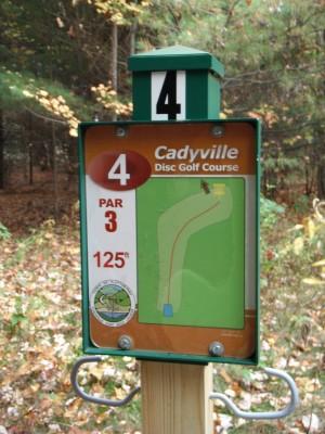 Cadyville Recreation Park, Cadyville DGC, Hole 4 Hole sign