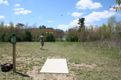 Cadyville Recreation Park, Cadyville DGC, Hole 16 Tee pad