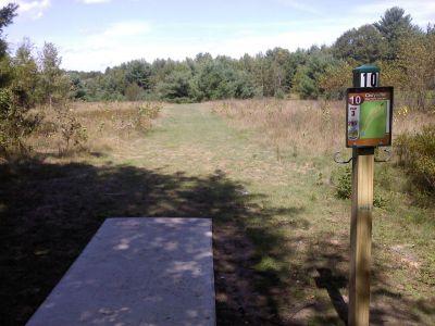 Cadyville Recreation Park, Cadyville DGC, Hole 10 Tee pad