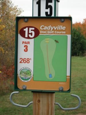 Cadyville Recreation Park, Cadyville DGC, Hole 15 Hole sign