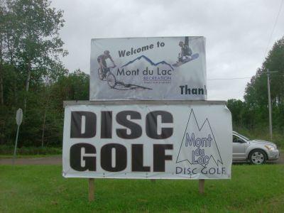 Mount Du Lac Recreation, Main course, Hole 18 Hole sign