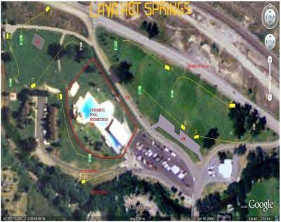 Lava Hot Springs Park, Pool course, Hole 1 Hole sign