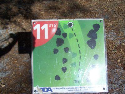 Ronnie Van Zant Memorial Park, Main course, Hole 11 Hole sign