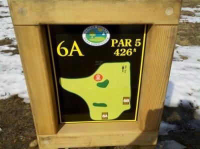 Mercer County Park, Main course, Hole 6 Hole sign