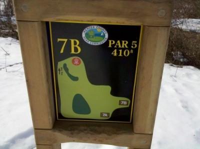 Mercer County Park, Main course, Hole 7 Hole sign