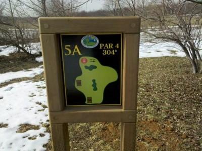 Mercer County Park, Main course, Hole 5 Hole sign
