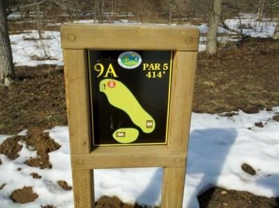 Mercer County Park, Main course, Hole 9 Hole sign