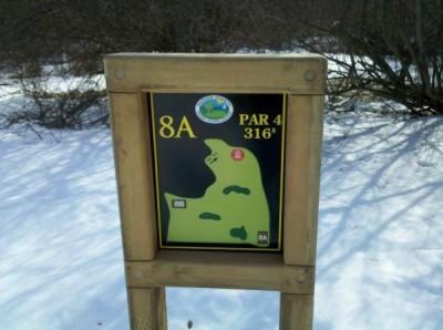Mercer County Park, Main course, Hole 8 Hole sign