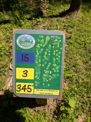 Mercer County Park, Main course, Hole 15 Hole sign