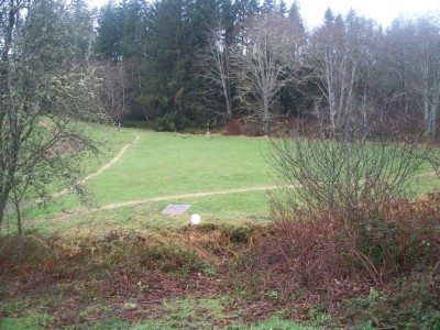 Lower Columbia DGC, Main course, Hole 1 Long tee pad