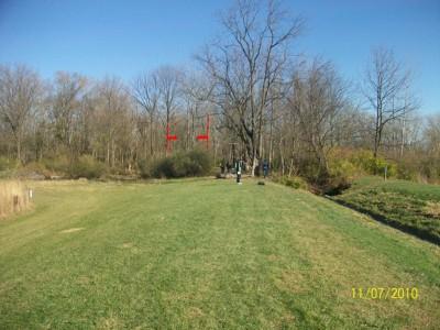 Fairborn Community Park, Handyman Ace Hardware DGC, Hole 6 Long tee pad