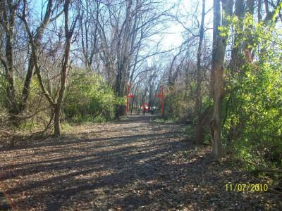 Fairborn Community Park, Handyman Ace Hardware DGC, Hole 10 Long tee pad