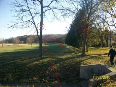 Fairborn Community Park, Handyman Ace Hardware DGC, Hole 12 Long tee pad