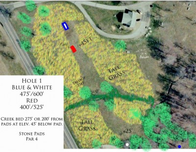 Pymatuning State Park, Main course, Hole 1 Hole sign