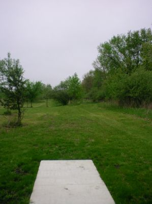 Burchfield Park, Devil's Den, Hole 4 Short tee pad