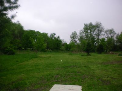 Burchfield Park, Renegades Trail, Hole 13 Short tee pad