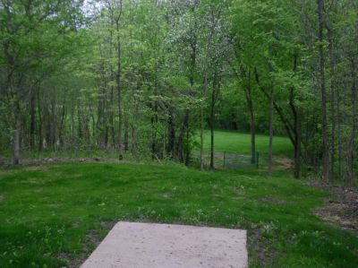 Burchfield Park, Devil's Den, Hole 18 Short tee pad