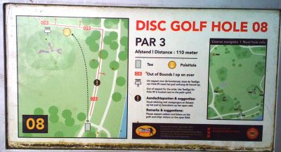 Sloterpark, Main course, Hole 8 Hole sign