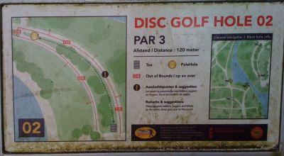 Sloterpark, Main course, Hole 2 Hole sign