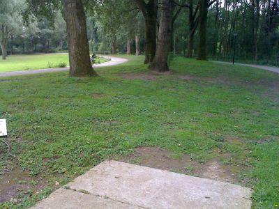 Sloterpark, Main course, Hole 2 Tee pad