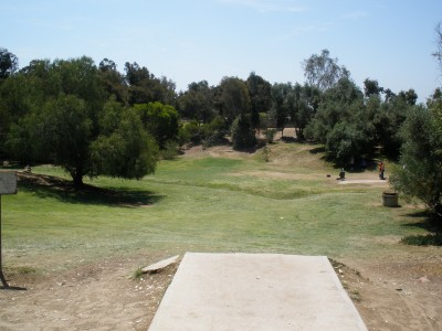 Morley Field, Main course, Hole 16 Tee pad
