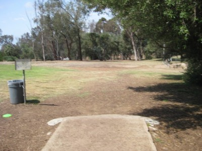 Morley Field, Main course, Hole 9 Tee pad
