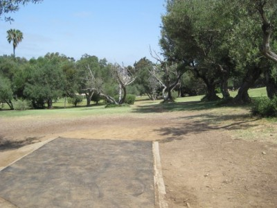 Morley Field, Main course, Hole 7 Tee pad