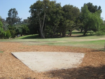 Morley Field, Main course, Hole 1 Tee pad