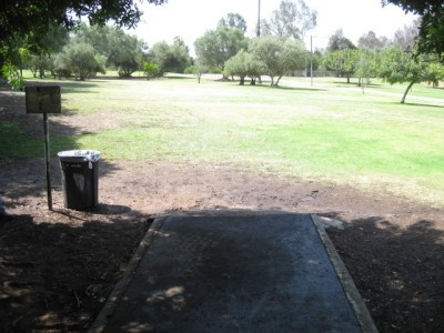 Morley Field, Main course, Hole 8 Tee pad