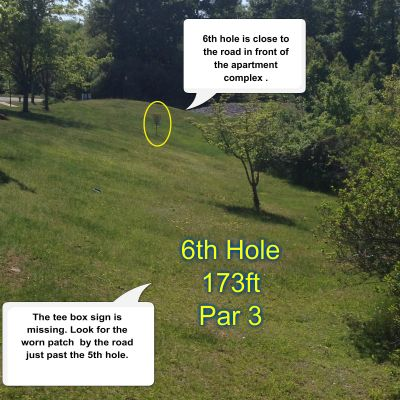 Greenwood Meadows DGC, Main course, Hole 6 Tee pad