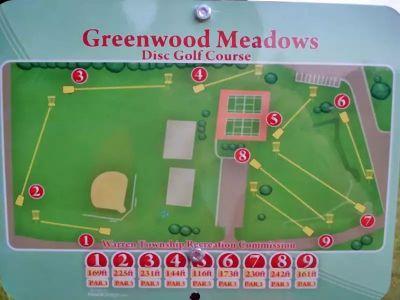 Greenwood Meadows DGC, Main course, Hole 1 Tee pad